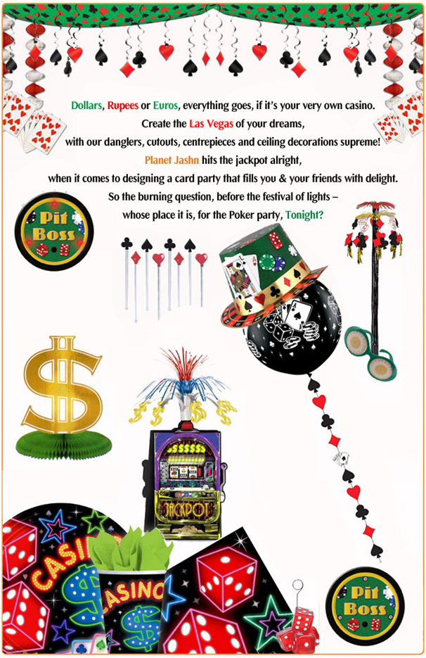 Casino wedding and party theme