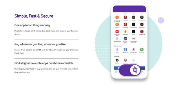 Features of PhonePe
