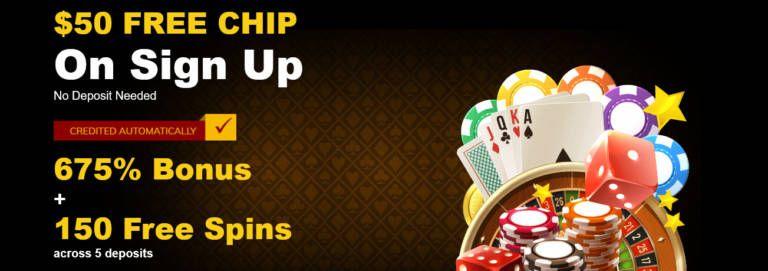 Free chip bonus at casino