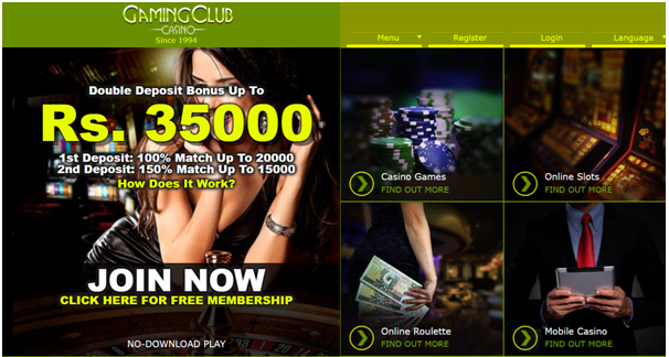 Gaming Club INR casino