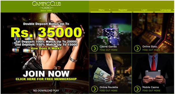 Gaming Club INR casino