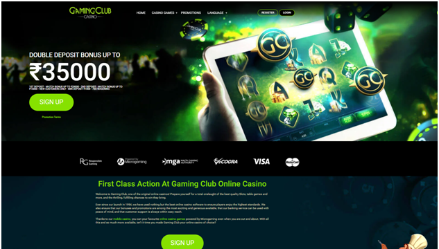 Gaming Club Indian online casino