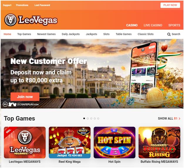 Google Pay Method deposit- Leo Vegas
