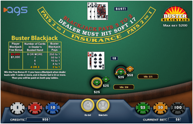 How to play Buster Blackjack