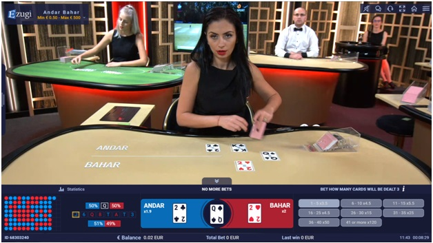 How to play andar bahar online at casinos