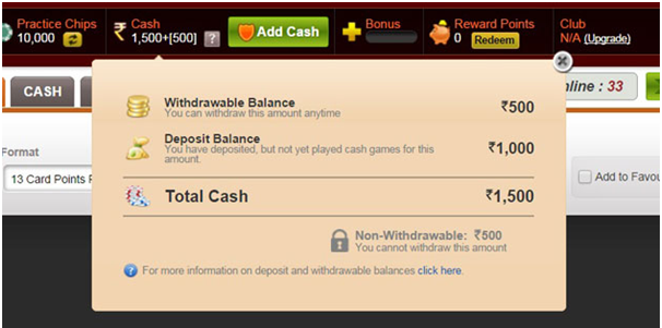 Indian Rummy- Rummy circle- How to withdraw your wins