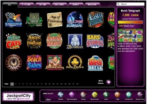 Jackpot City Online Indian casino- Games to play