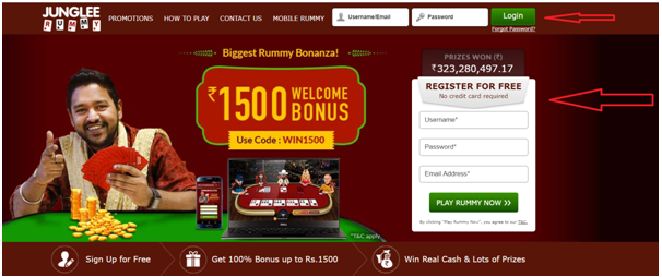 Junglee Rummy- Open your account