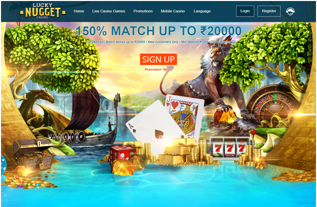 Lucky Nugget Casino Bonus for new players