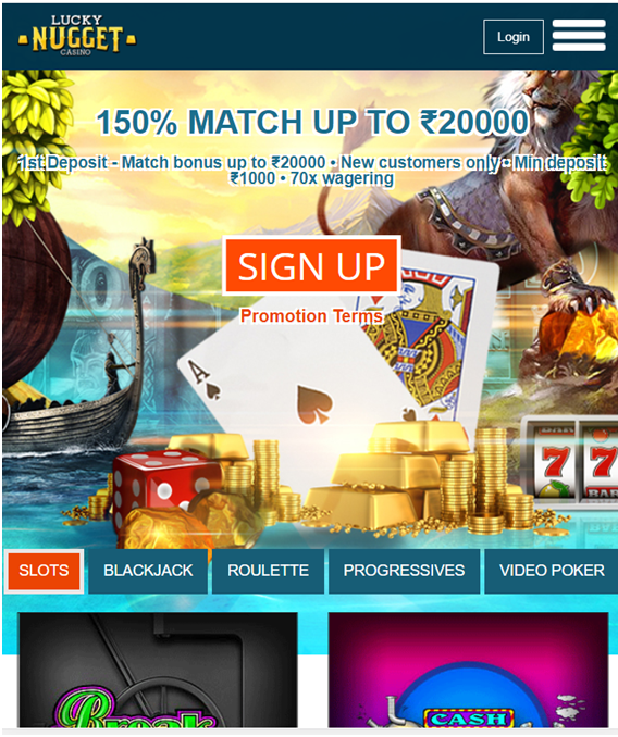 Lucky Nugget Indian mobile casino app