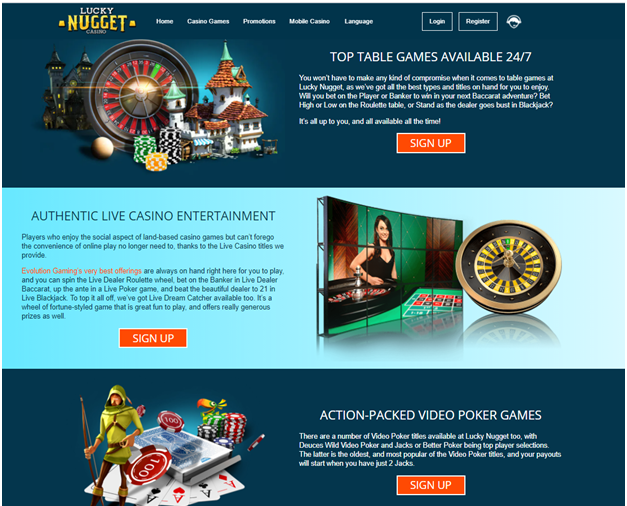 Lucky Nugget Indian online casino- Games to play