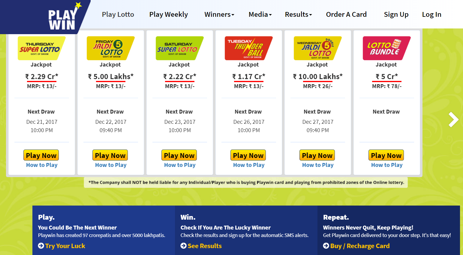 Playwin Lottery Now You Can Enjoy Lotto And Keno Games In India Too