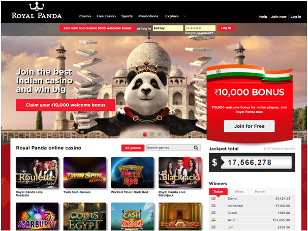 Royal Panda Casino- play with INR