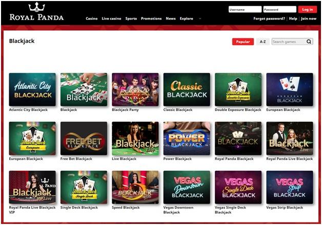 Royal Panda Indian Online Casino - Blackjack