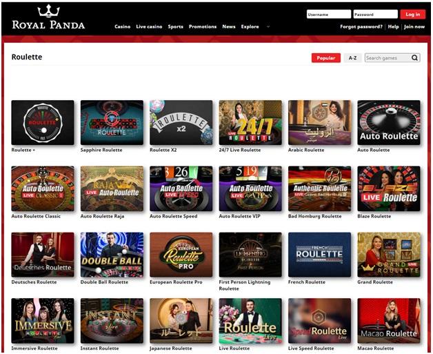 Royal Panda Indian Online Casino - Roulette