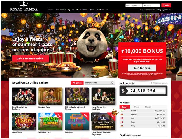 Royal Panda Rs10000 bonus