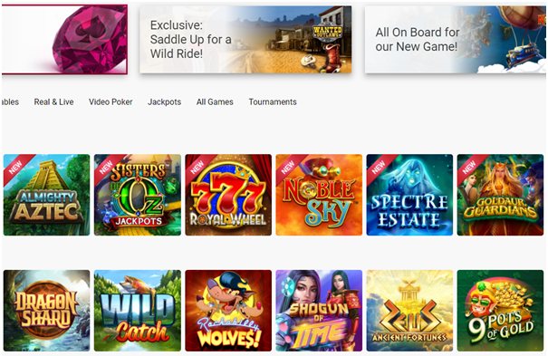 Ruby Fortune Indian online casino slot games to play