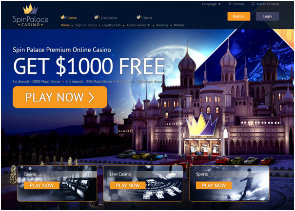 Spin Palace casino- high deposit online casino INR