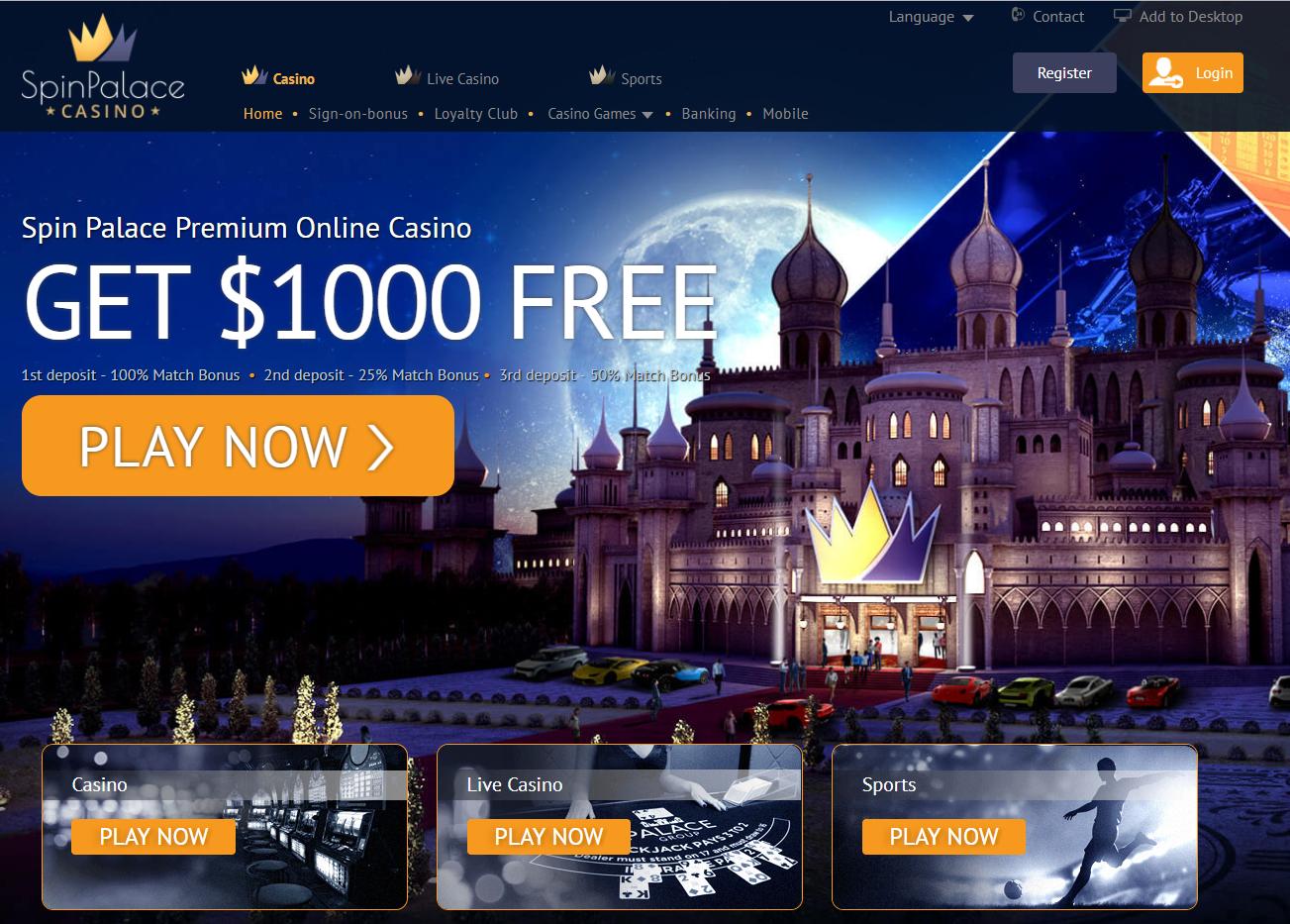 Spin Palace casino India