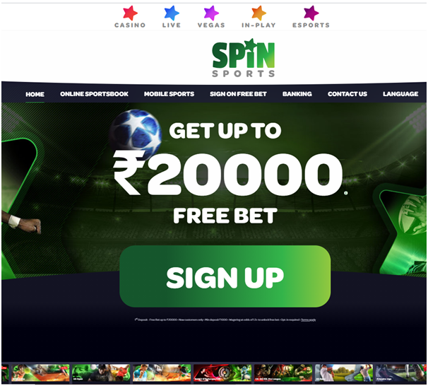 Spin sports Indian betting site