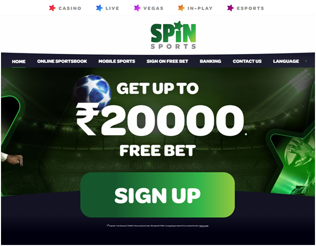 India Spin Sports Free Bet 20000 Rupees