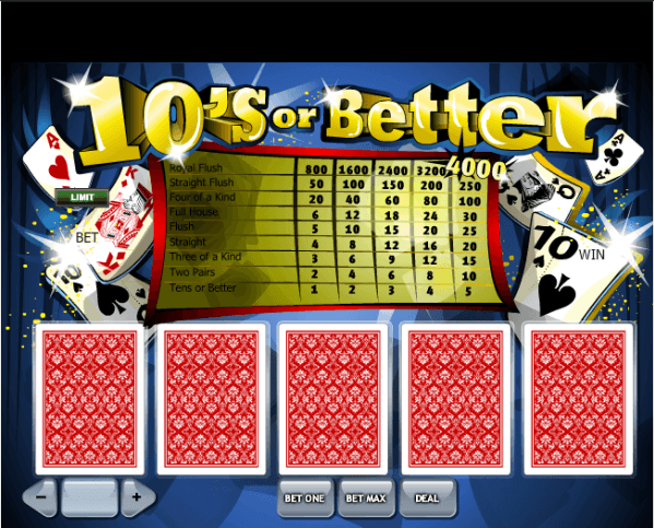 Tens or better game play