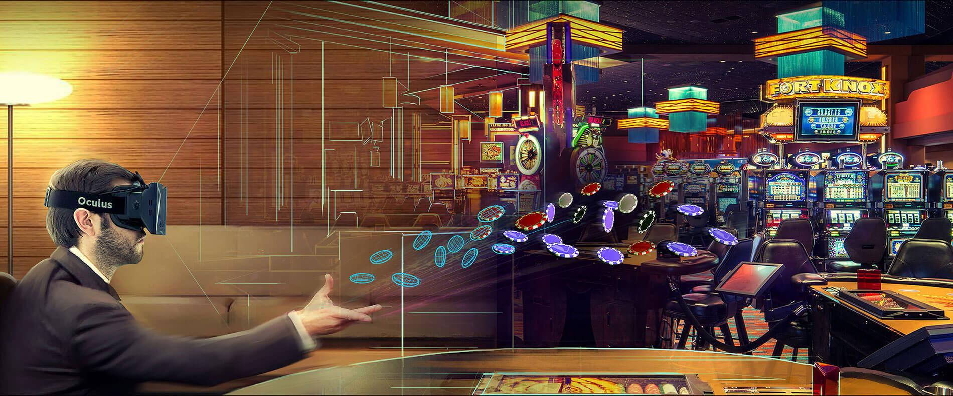 VR slot game at online casinos