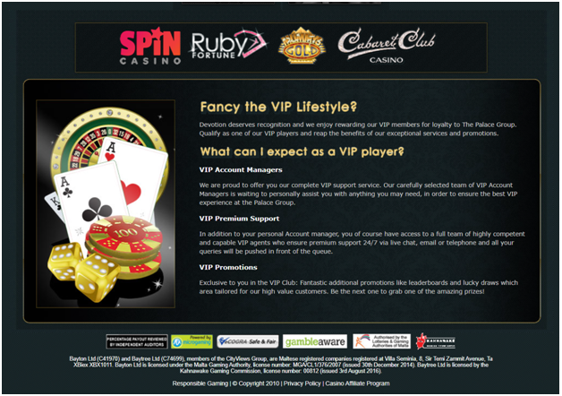 What is the VIP Loyalty program for Indians at Online Spin Casino
