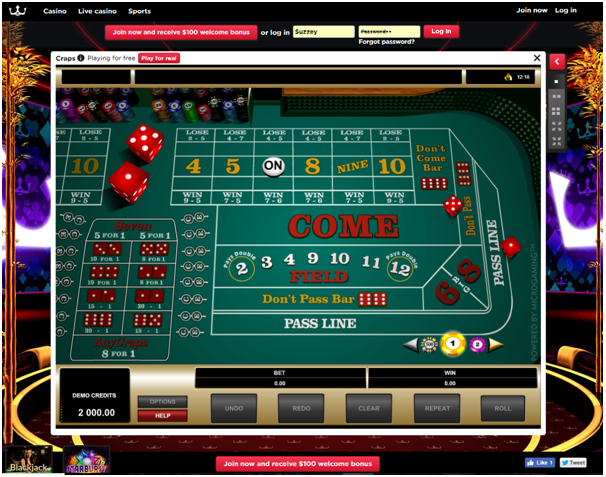 Where to play high limit craps online - Royal Panda