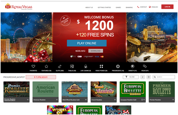 Play high Limit Roulette at Royal Vegas online casino