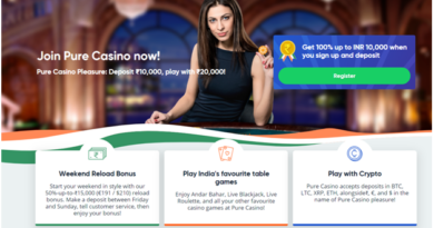 pure casino bonus