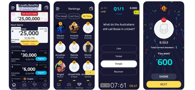 quizistan app live tournaments