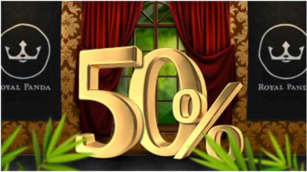 royal panda 50% bonus